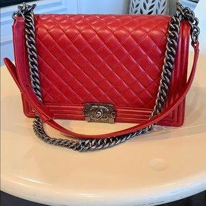 CHANEL Bags - Chanel Medium Quilted Boy Bag